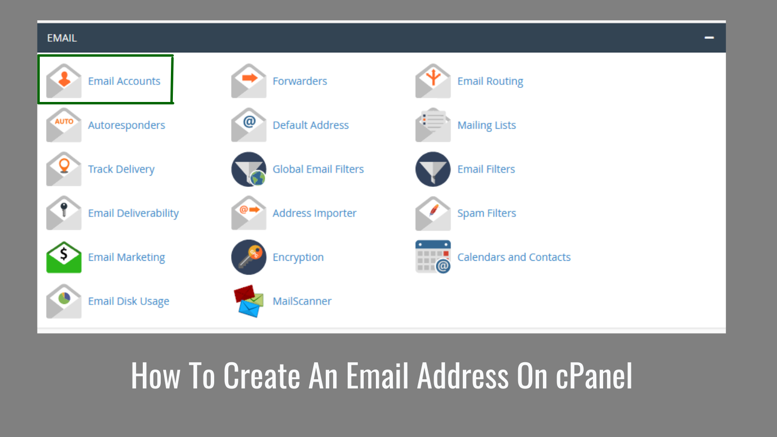 email address on cpanel
