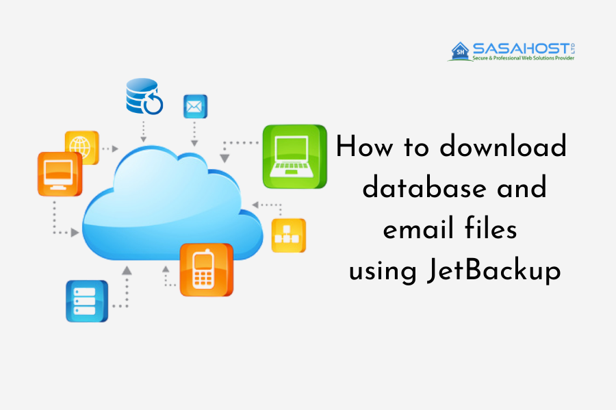 How to download database and email files using JetBackup