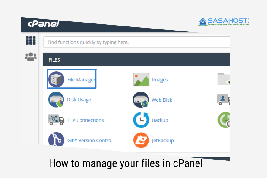 How to manage your files in cPanel