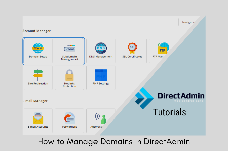 How to Manage Domains in DirectAdmin